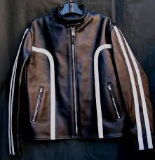 strada horsehide leather motorcycle jacket