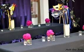 Masquerade Ball Decorations Centerpieces Purple and Pink Masquerade Party DIY Inspired 43