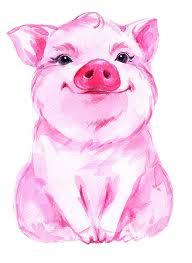 Pig Design Amazon Com Water Color Look Pig Design Pigs Piggy Babe Farm