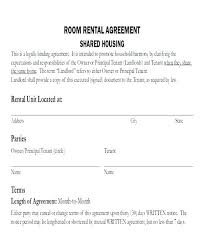 Room For Rent Contract 15 Rental Contract Template Excel Spreadsheet