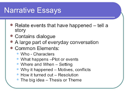 elements of an effective essay 31 narrative essays