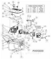 Powermate formerly coleman pm0433500 parts diagram for generator parts