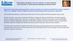 Descriptive Wording In A Resume Increases Recruiter S Interest D