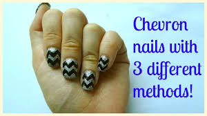 How I do chevron zigzag nails with 3 different ways! Explained ...
