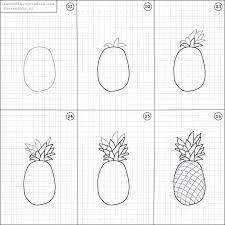 pineapple drawing step by step. how to draw a pineapple. random things draweasy pineapple drawing step by