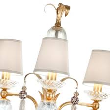 luxury gold leaf chandelier floor lamp