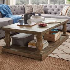 Edmaire Rustic Pine Baluster 55-inch Coffee Table by iNSPIRE Q Artisan -  Free Shipping Today - Overstock.com - 18468984