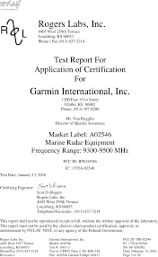 Rogers Serial Number Chart 02546 Marine Radar Test Report Garmin