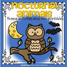 Animal Activity Chart Nocturnal Animals Activities And Printables For Preschool
