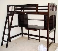 modern charcoal loft bed