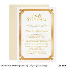 Design Own Party Invitations 50th Golden Wedding Anniversary Invitation Zazzle Com