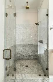 walk in shower with mixed marble tiles tile seat contemporary marble tiled walk in shower