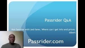 Zed Fare Chart 2017 Zed Fare Passrider Com Q A What Is A Zed Fare
