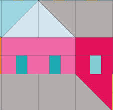 503 best house quilt patterns images on Pinterest | Crafts, House ... & Name: Quilting : Hillside Houses Block 5 Adamdwight.com