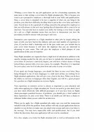 How To How To Make A Flight Attendant Cover Letter Resume Letter