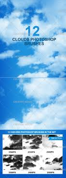 Cloud Photoshop Brushes 12 High Resolution Cloud Photoshop Brushes Premium Creative Nerds
