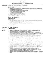 Computer Assistant Resume Samples Velvet Jobs