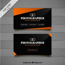 Modern Photography Business Card With Geometric Shapes Vector Free