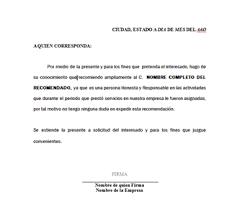 Ejemplo De Cartas De Recomendacion Laborales Descarga De Formato Recomendacion Laboral