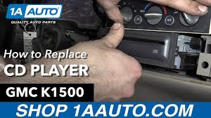 How to Remove Install CD Player 1996 GMC Sierra Buy Quality Auto ...