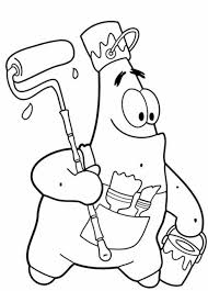 Small Picture Funny Patrick Star Coloring Pages Spongebob Cartoon Cartoon