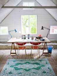home office designs wooden. Office Design For Two With Bright Chairs And Floor Rug Home Designs Wooden E