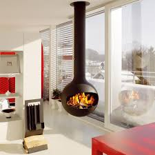 hanging fireplace looks really amazing - Modern fireplaces for stunning  indoor and outdoor spaces