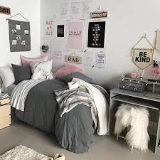 Neutral Coordinated Dorm Bedding And Dorm Decor Shabby Chic Dorm Designer Dorm Rooms