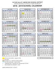 Year To Year Calendar 2018 19 School Year Calendar Adelanto High School