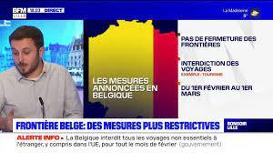 Belgique: des mesures plus restrictives, les voyages non essentiels sont  interdits pour un mois