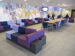 office seating area. Waiting Area At Hospital Gelre Ziekenhuizen, Zutphen, The Netherlands. Interior Architect Johan Van Office Seating E