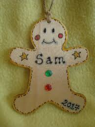 home decorations personalised wooden gingerbread man