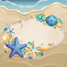 Sand Card Vintage Greeting Card On Sand Stock Vector Aviany 6488754