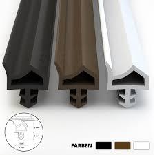 Türdichtung Zimmertürdichtung Türgummi 20m 12mm Std06 Weiss