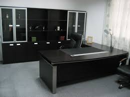 interior elegant design workspace with modern chairs padded and large work desk size of special granite and exclusive storage cupboard with transparent china eco friendly modern office