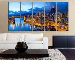 large wall art canvas print the city of vancouver in canada canvas print vancouver skyline on extra large wall art canada with large wall art canvas print the city of vancouver in canada canvas