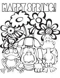 Cozy Ideas Springtime Coloring Pages 35 Free Printable Spring For