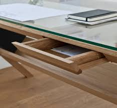 wooden desk glass contemporary covet shin azumi case intended for wood and glass desk modern
