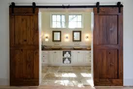 image of rustic sliding barn door as inspiring interior door design ideas