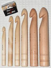 KnitPro Jumbo Birch Wood <b>Big Crochet Hook</b> (15mm - 35mm) Knit ...