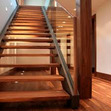 straight staircase steel frame wooden steps without risers majestik 2240 1 by martin troy
