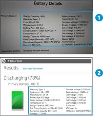 Hp Battery Compatibility Chart Hp Notebook Pcs Testing And Calibrating The Battery
