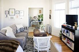 Studio apartment furniture layout Stunning Its Great Idea For Small Space As The Console Can Also Provide Additional Kitchen Storage And Countertop Space In Pinch Apartment Therapy Ways To Lay Out Studio Apartment Apartment Therapy