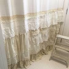 lace shower curtains cream ruffle shower curtain cute shower curtain hooks