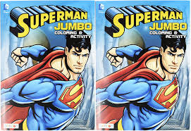 Partner with bendon to deliver the best coloring and activity books available! Amazon Com Set Of 2 Superman Jumbo Coloring Activity Book 96 Pages Tear And Share Pages Coloring And Activity Book Perfect For Any Superman Fan Toys Games