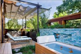 outdoor spa ideas for the summer stunning outdoor spa ideas for the summer cool outdoor bathroom