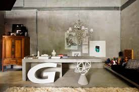 images of office decor. Best Contemporary Concrete Desk And Chairs Under Wide Chandelier In Extraordinary Office Decor Ideas Have Images Of
