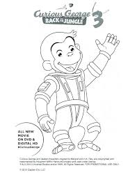 Free Curious George Coloring Pages Printable To Print Off For Kids