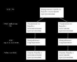 Взаимодействие налоговых и других органов осуществляющих  Рис 2 1 Структура Федеральной службы по борьбе с экономическими и налоговыми преступлениями