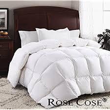 Amazoncom ROSECOSE Luxurious Goose Down Comforter Queen Duvet